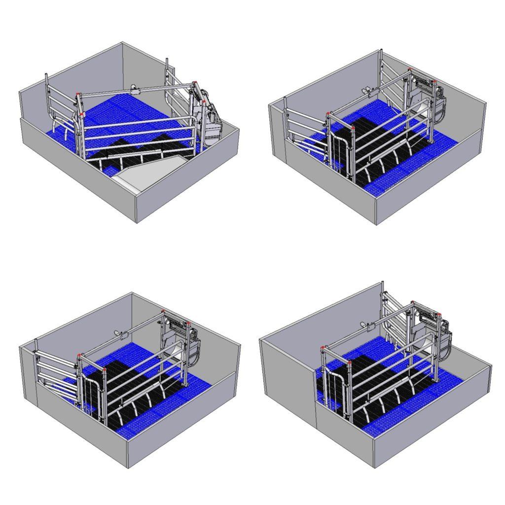 adaptable farrowing crate mod. flex-adapt 052