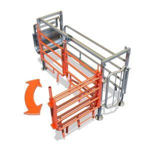 Adaptable farrowing crate mod. FLEX-ADAPT-052 – flexibility and adaptation